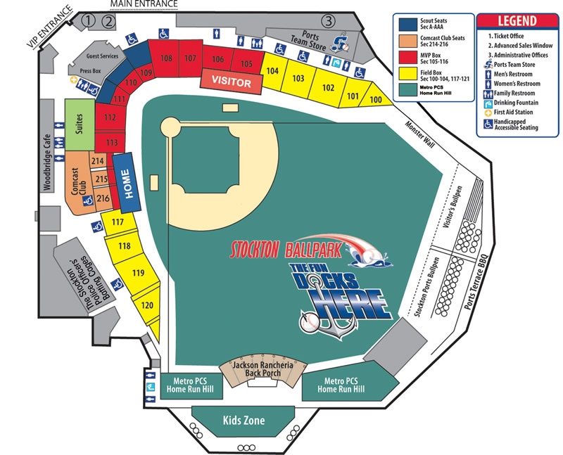 Stockton Ballpark Seating Chart
